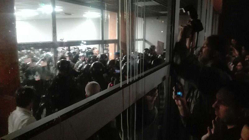 Demonstranti u RTS
